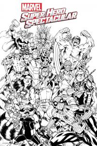 Marvel Super Hero Coloring Poster by Nauck (24 x 36) Rolled/New!