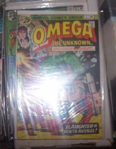 omega the unknown #2 1977 marvel hulk