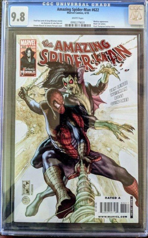 The Amazing Spider-Man #622 (2010) CGC 9.8 RARE MORBIUS ISSUE!
