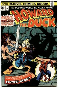 HOWARD THE DUCK #1 1976-MARVEL--FRANK BRUNNER-FIRST ISSUE-GOTG!!