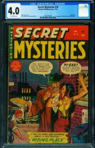 SECRET MYSTERIES #16 CGC 4.0-PRE-CODE HORROR-VIOLENCE-MYRON FASS-2014737002