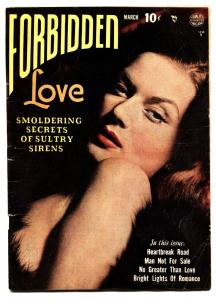 Forbidden Love #1 1950-Golden-Age Romance First Issue - Reed Crandall