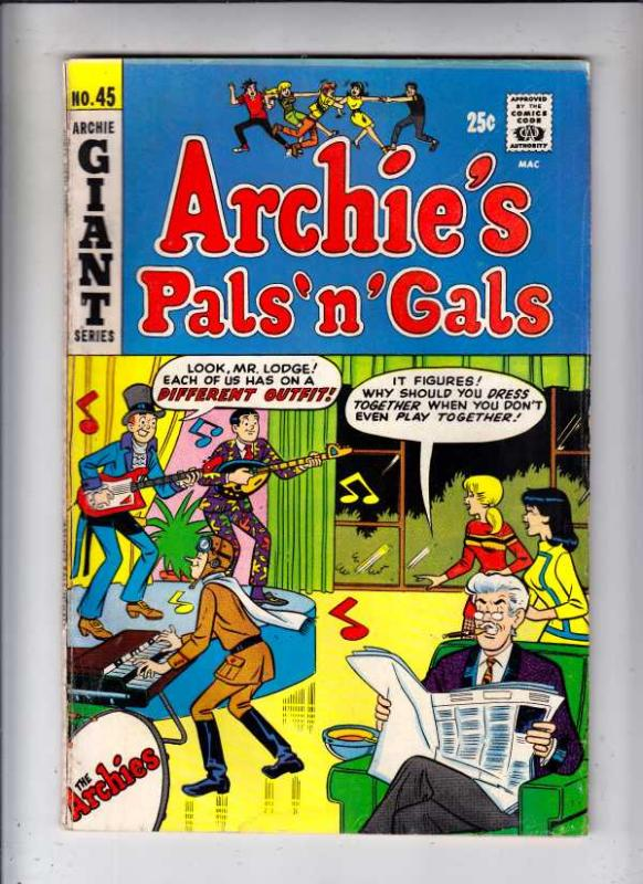 Archie's Pals 'n' Gals #45 (Apr-68) VG/FN Mid-Grade Archie, Betty, Veronica, ...