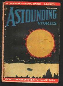 Astounding Stories 2/1938-Howard V. Brown cover-Eando Binder-E.E. Smith-Arthu...