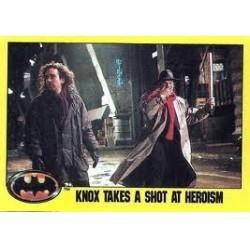 1989 Batman The Movie Series 2 Topps KNOX TAKES A SHOT AT HEROISM #237