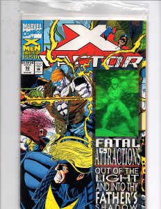 Marvel Comics X-Factor Vol. 1 #92 Fatal Attractions Havok Hologram Joe Quesada