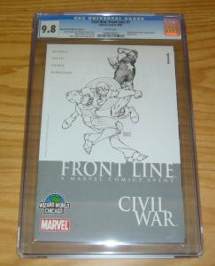 Civil War: Front Line #1 CGC 9.8 marvel's avengers michael turner sketch variant