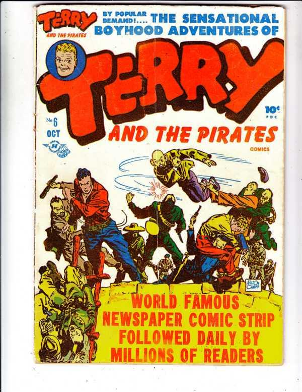 Terry and the Pirates #6 (Oct-47) VG/FN Mid-Grade Terry
