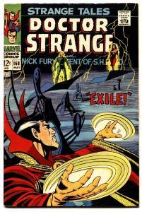 STRANGE TALES #168-comic book DR. STRANGE-NICK FURY-STERANKO ART vf-
