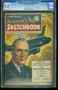 JIM RAY'S AVIATION SKETCHBOOK #1-CGC 9.0-1946-SOUTHERN STATES 1197194020