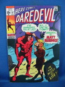 Daredevil #57 (Oct 1969, Marvel) F VF