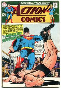 ACTION COMICS #372 1969-SUPERMAN-WRESTLING COVER VG-