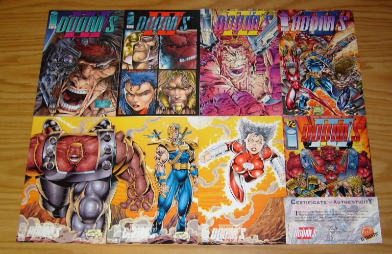 Doom's IV #½ & 1-4 VF/NM complete series + (3) variants - rob liefeld set lot 2