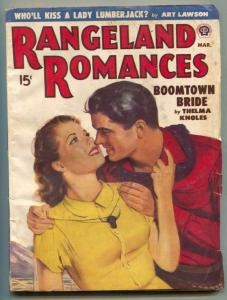 Rangeland Romances Pulp March 1950- Boomtown Bride
