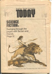 Today 9/1975-Tarzan cover and feature-Edgar Rice Burroughs photo-BYU Newspaper-G