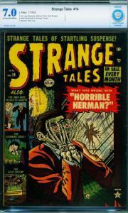 STRANGE TALES #14-CBCS 7.0-1953-ATLAS-PRE-CODE HORROR