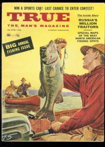 TRUE MAGAZINE APRIL 1956-FISHING-ANITA EKBERG-MULLIN VG