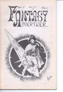 Fantasy Advertiser March 1948--PULP FANZINE FN