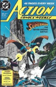 Action Comics #611 (8-88) Superman, Green Lantern, Catwoman,Deadman,Black Canary