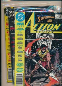 DC Annual 1989 LOT of 4!!  Batman/Flash/Justice League  FINE (PF831)