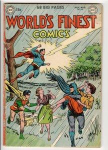 WORLDS FINEST 65 VG/F ORIGIN SUPERMAN;1st TOMAHAWK