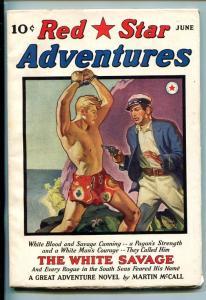 RED STAR ADVENTURES-#1-JUN 1940-PULP-BELARSKI-SOUTHERN STATES PEDIGREE-vf/nm