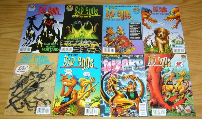 Bad Eggs #1-8 VF/NM complete series - bob layton - don perlin - dinosaurs set
