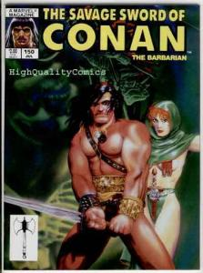 SAVAGE SWORD of CONAN #150, FN+, King Kull, Ernie Chan, Michael Golden