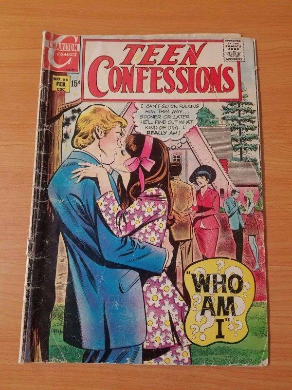 Teen Confessions #66 ~ GOOD - VERY GOOD VG ~ (1971, Charlton Comics)