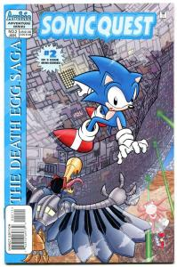 Sonic Quest The Death Egg Saga #2 1996- Sega- Archie Comics VF/NM