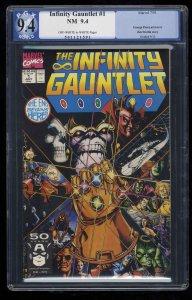 Infinity Gauntlet #1 PGX NM 9.4 Off White to White