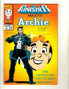Lot Of 3 Marvel Comics Punisher Meets Archie + Batman Punisher (2) NM 1st Pr HY1