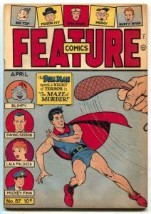 Feature Comics #87 1945- DOLL MAN- Maze Murder FN-