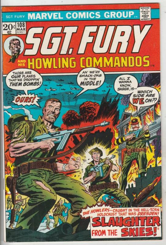 Sgt. Fury and His Howling Commandos #108 (Mar-73) VF/NM+ High-Grade Sgt. Fury...