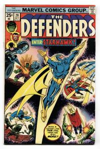 THE DEFENDERS #28 comic book-1stappearance STARHAWK Comic Book vf-