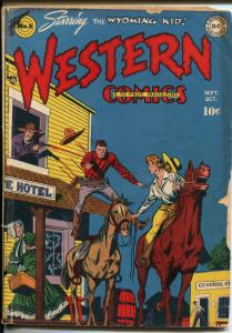 WESTERN #5 1948-DC-WYOMING KID-1ST NIGHT HAWK-WYATT EARP-vg minus
