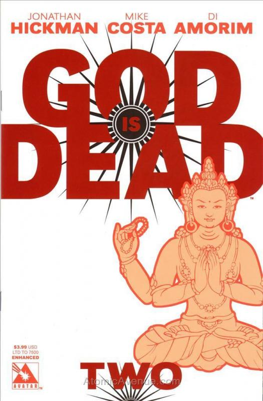 God Is Dead #2G VF/NM Avatar - save on shipping - details inside