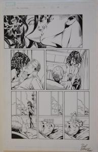 DAVID ROSS / RODNEY RAMOS original art, The INHUMANS #12 pg 14, 11x17, 2004