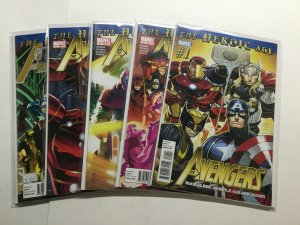 Avengers 1-5 1 2 3 4 5 Lot Run Set Very Fine Vf 8.0 Marvel