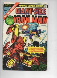 Giant-Size IRON MAN #1, VG, Steve Ditko, Captain America, 1975, more IM in store