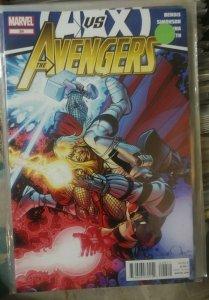 Avengers # 26 2012  Marvel  a vs x   thor captan america ironman wolverine  xmen