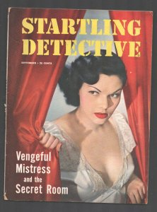 Startling Detective 9/1950-Spicy girl photo cover-exploitation-posed photos-P...