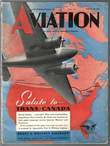 Aviation 5/1939-Pre-WWII-aircraft-photos & info-100+ pages-VG