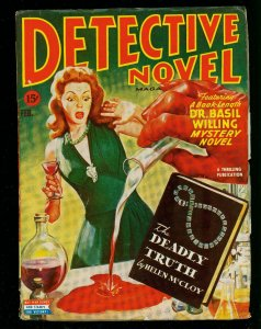 Detective Novel Feb 1945- Thrilling Pulp- Spicy Menace Cover- Basil Willing