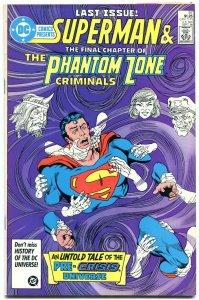 DC Comics Presents #97 1986- Last Pre-Crisis General Zod- last issue VF