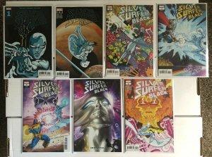 Silver Surfer Black 1 2 3 4 w/Variants 7 Book Lot 1st Void Knight & Black Winter