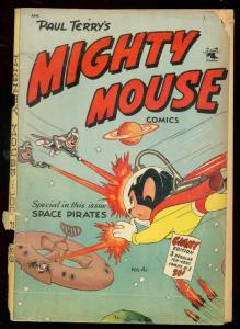 MIGHTY MOUSE #41 1953-GIANT ST JOHN COMIC-SPACE PIRATES G