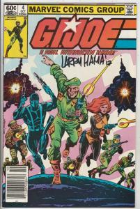 G.I. Joe signed #4 (Oct-82) VF/NM High-Grade G.I. Joe