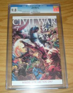 Civil War #7 CGC 9.8 michael turner 1:15 variant - captain america vs iron man
