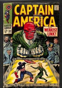 Captain America #103 GD 2.0 Red Skull! Marvel Comics